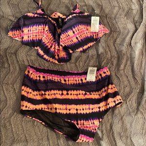 Torrid Tie Dye Medallion Bikini Set